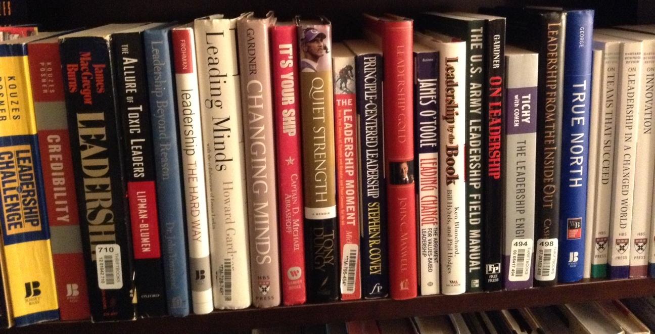 My bookshelf at Charleston Southern University.