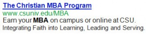 Get your MBA Now from Charleston Southern University