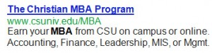 Get your MBA at Charleston Southern University