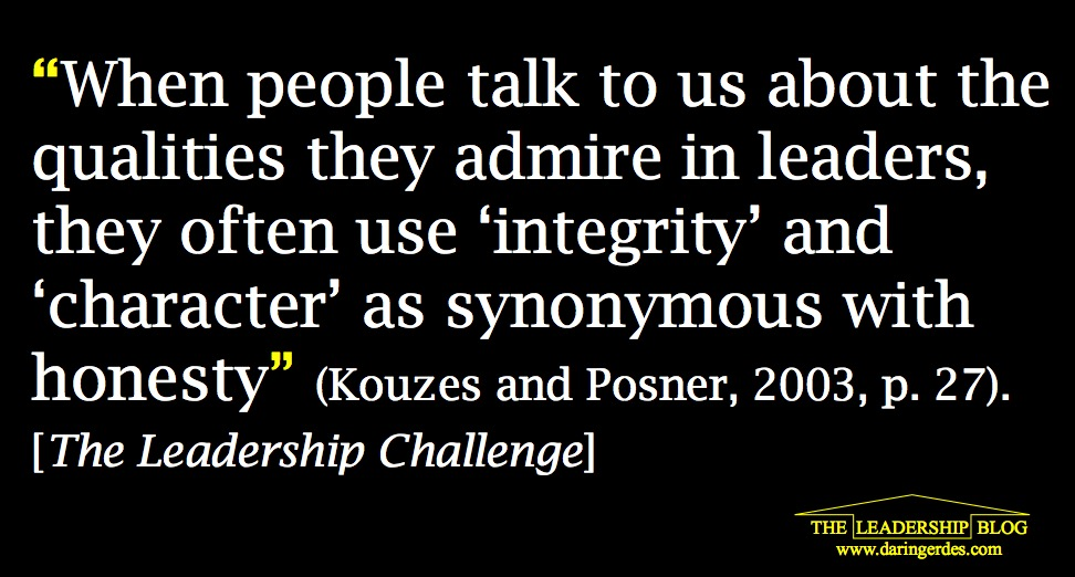 Integrity and Character Leadership quotes